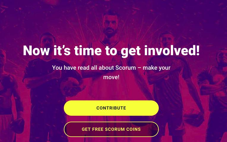 Contribute Scorum ICO Banner